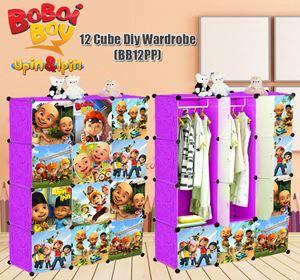 Boboiboy & Upin Ipin PURPLE 12C DIY WARDROBE (BB12PP)