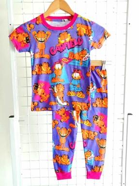 SIZE 12 BIG KIDS  Pyjamas PURPLE GARFIELD