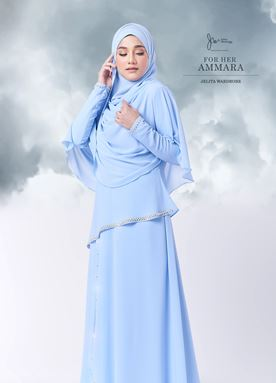 Jubah Ammara For Her (Ice Blue)