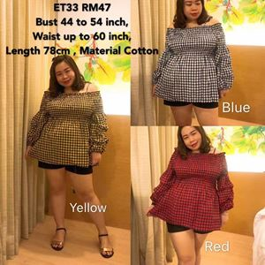 ET33 *Ready Stock *Bust 44 to 54inch/112-137cm