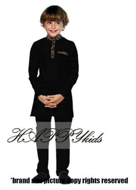 Kurta Raya Songket For Boy - Hitam
