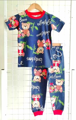 Pyjamas LOVELY BEAR DARK BLUE :  BIG Size 12 (HF)