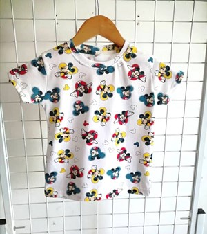 T-Shirt Short Sleeve Mickey Mouse White: Size 1y-6y (1 - 6 tahun) QK