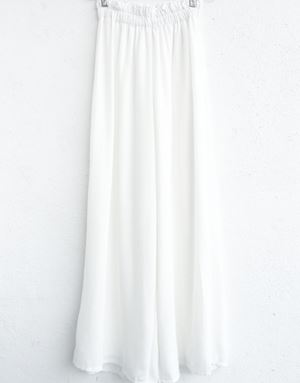 ZARA LOOSE PANTS IN WHITE