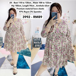 3992 *Ready Stock *Bust 46 to 51 inch /118 to 130cm