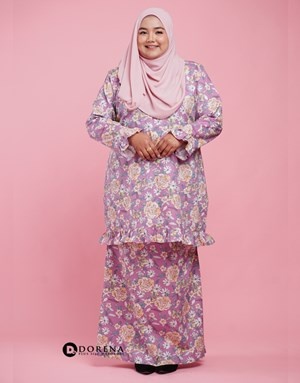 Kurung Cotton Aisya (Purple)