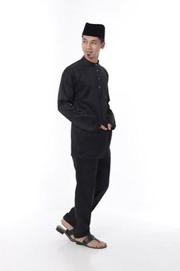 Baju Melayu Ngam Xclusive - Black