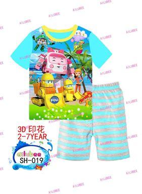 Pyjamas Set - Robocar Poli SH-019