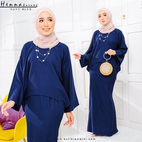 HENNA KURUNG NAVY BLUE
