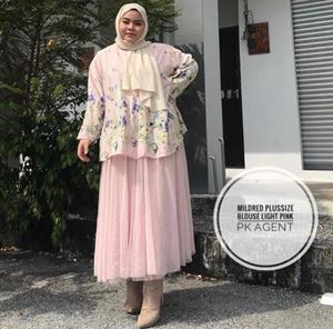 MILDRED BLOUSE (PLUSSIZE)