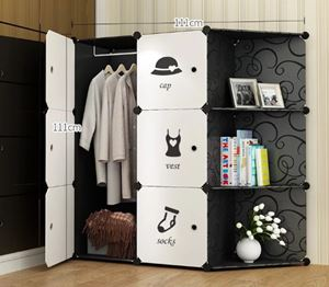 BKW6C Modern Living BlackWhite DIY Cabinet Wardrobe (47cm Depth x 35cm x 35cm) Free*UtilityHanger*