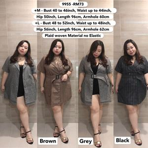 9955 Ready Stock  *Bust 40 to 52 inch/ 101-132cm