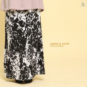 Adelia Skirt Printed : Floral Black