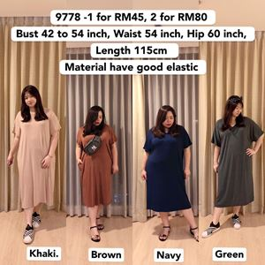 9778 *Ready Stock*Bust 42 to 54 inch/ 106-137cm