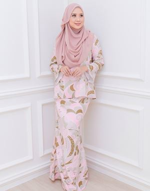 BIANCA LOOSE KURUNG IN BLUSH/DUSTY OLIVE