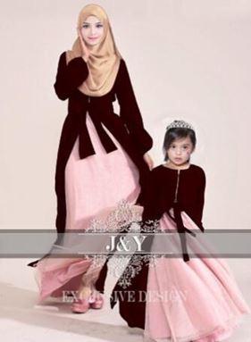 J070 PRINCESS DRESS SET WINE RED (MAROON)