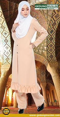 JUBAH AZ ZAHRAA - SOFT BROWN