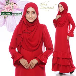 JUBAH SUMAYYAH - MARROON  COLOR