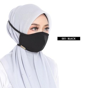 FACEMASK 2PLY -  BLACK OO1