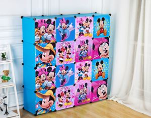 Disney Mickey 16C Blue DIY Wardrobe (MC16B)