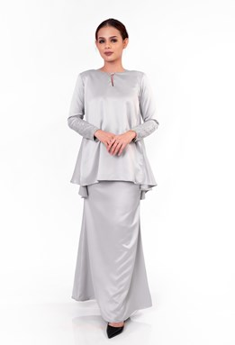 Nalea Doll Kurung (Light Grey)