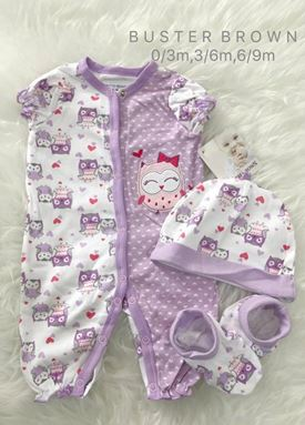 Buster Brown 3 in 1 Set (Purple Owl for Girl)