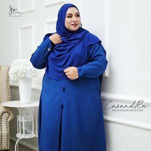 02 CASANDRA FASHIONABLE BLOUSE (Royal Blue)