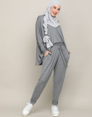 IVY PANTS IN PASTEL GREY