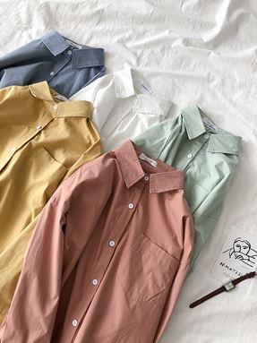 Bella Solid Color Shirt