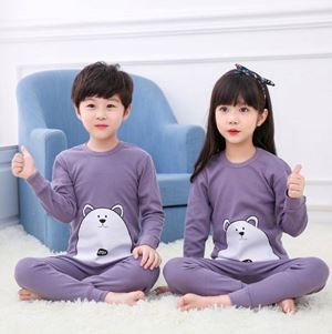 @  Unisex Korean Sedondon Pyjamas ( PURPLE BEAR  ) SZ  2Y-9Y