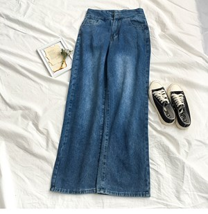 DARK BLUE WIDE LEGS JEANS