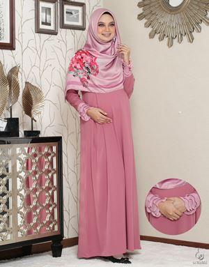 Siti Aafiyah Dress : Dusty Pink