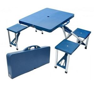 Foldable Aluminium & plastic Picnic Table and Chairs Portable....
