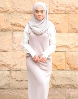 ADELINE OVERALL DRESS IN MAUVE