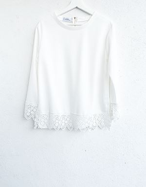 DINDA LACE SHIRT IN WHITE
