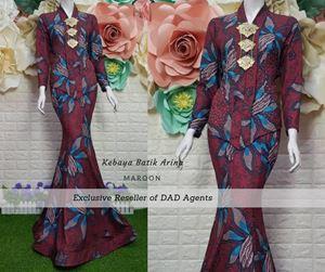 Kebaya Batik Arina Maroon