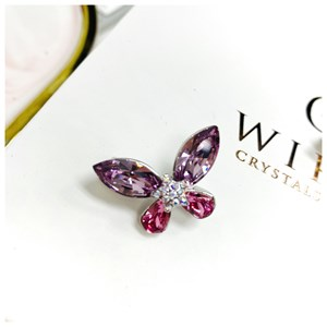 Brooch Yara Rose Light Amethyst