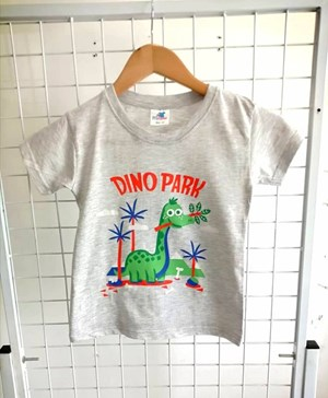 T-Shirt Short Sleeve Dino Park Grey: Size 1y-6y (1 - 6 tahun) RS