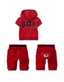 B045/12 GAP BEAR 2 PCS SET ( RED )