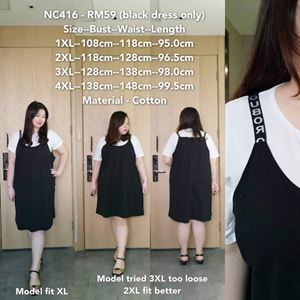 NC416 *Bust 42 to 54 inch/ 108-138cm