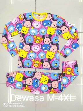 Pyjamas TSUM TSUM FRIENDS PINK : Size DEWASA XL, 3XL