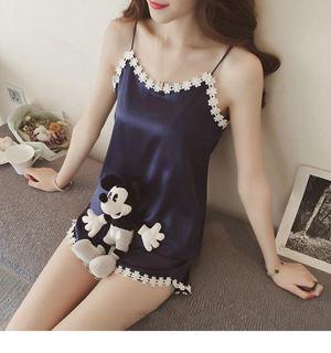 BB203 Female Sleeveless Pajamas Set ( BLUE ) ETA EARLY MAY