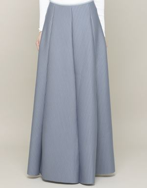 KHLOE STRIPED SKIRTS IN GREY