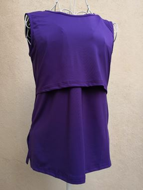 *Milk Silk* Sleeveless Nursing Inner (Purple) Size Regular, Big