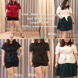 9709 Ready Stock *Bust 38 to 50 inch/ 96-127cm