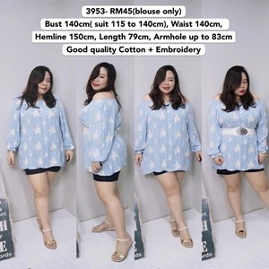 3953 *Ready Stock *Bust 140cm( suit 115 to 140cm)