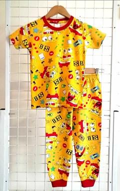 Pyjamas SPONGEBOB SB YELLOW : BABY 6M- 24M (HF)