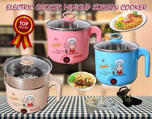 CHEF DESIGN ELECTRIC COOKER 1.6L MINICUP KOREAN COOKER(STAINLESS STEEL 2ND LAYER)