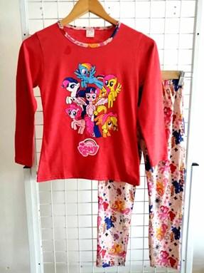 Pyjamas PLAIN LITTLE PONY Red - Long Sleeve (Big Size) 9y-14y