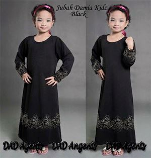 Jubah Damia Kidz Black